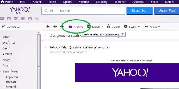 yahoo archive email