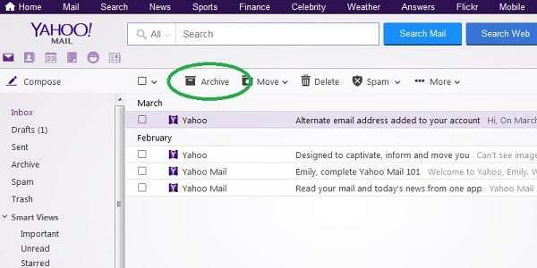yahoo archive messages inbox