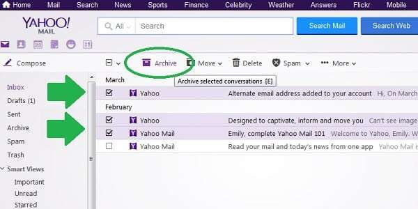 yahoo archive multiple messages
