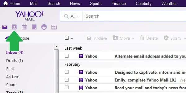 yahoo contacts icon