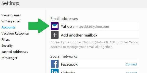 yahoo mail forwarding accounts