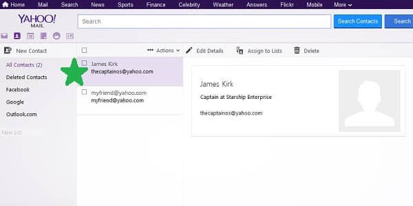 yahoo new contact added