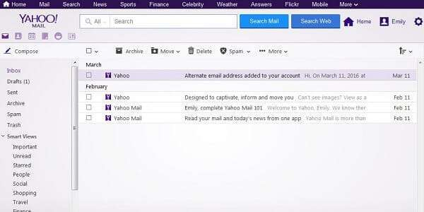 Save Important Messages in Yahoo Mail