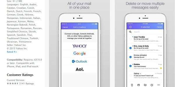 yahoo app ios screenshot