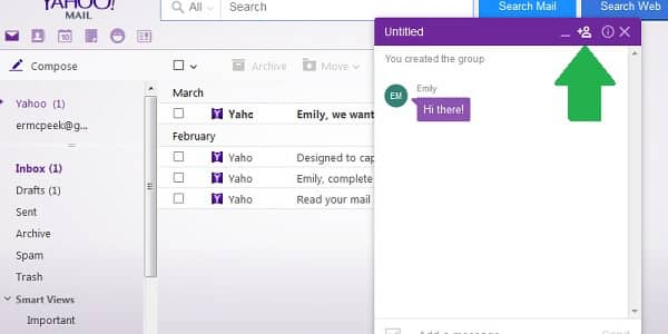 yahoo messenger group chat add contact