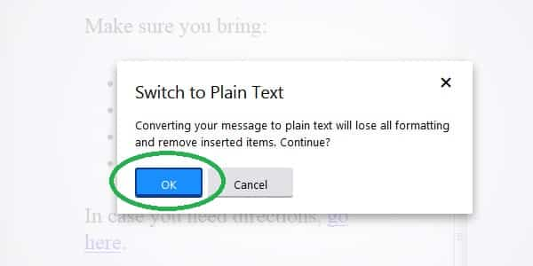 yahoo switch to plain text